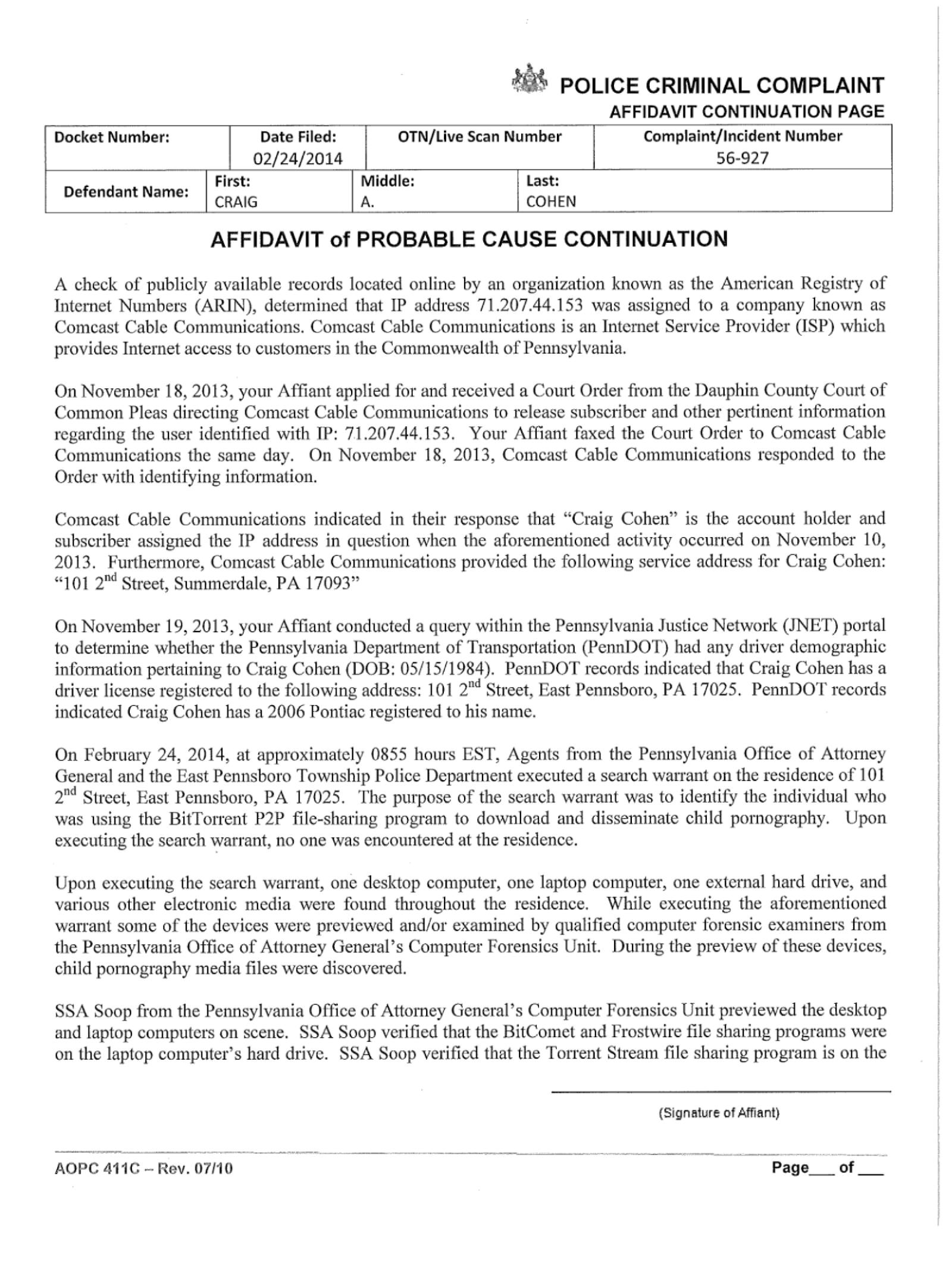 Copy of Cohen Craig Criminal Comnplaint09.png
