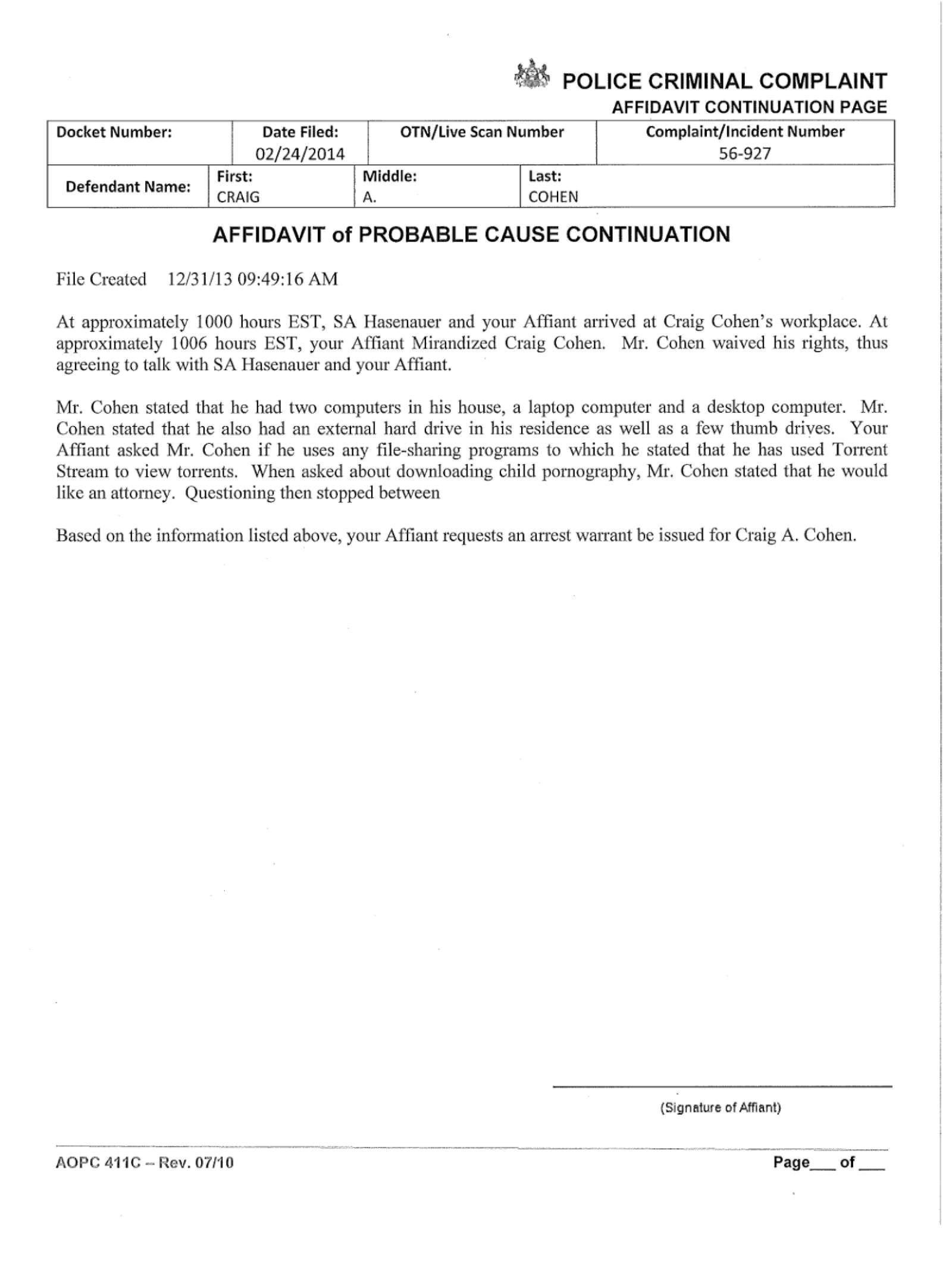 Copy of Cohen Craig Criminal Comnplaint11.png