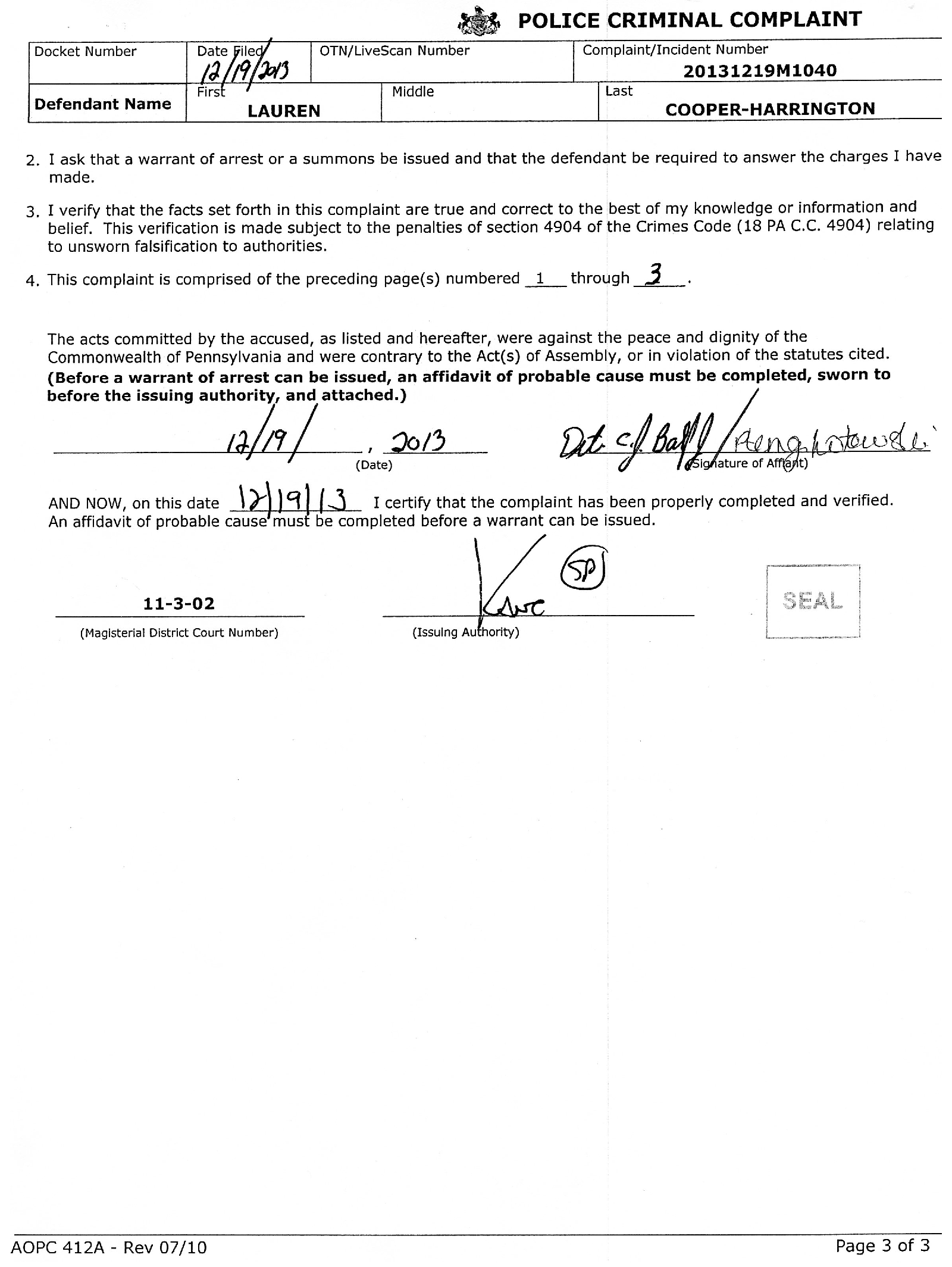 Copy of Harrington-Cooper Lauren Probable Cause Affidavit5.png