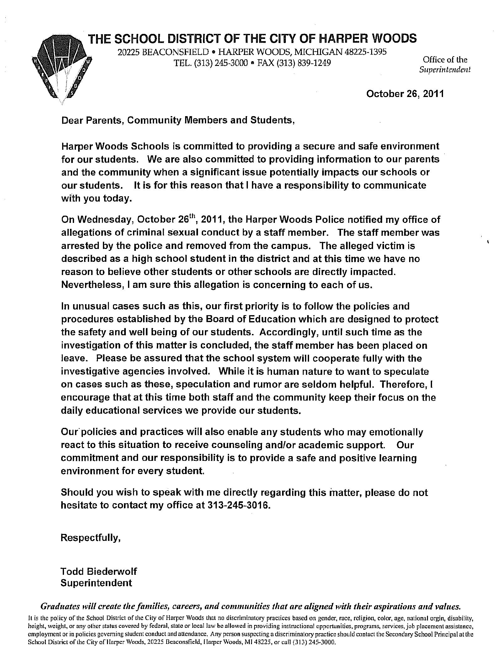 Michigan wayne county harper woods - Harper Woods Hs Letter Png