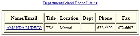 Ludwig Amanda school staff directory.png