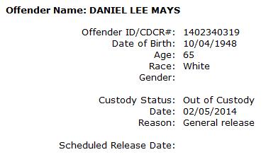 Mays Daniel Lee inmate info.png