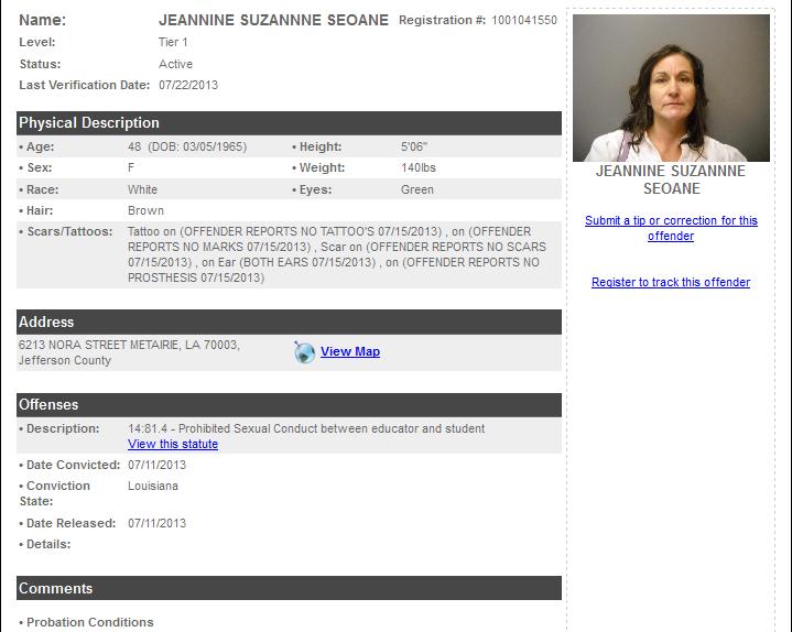 Seoane Jennifer sex offender info.png