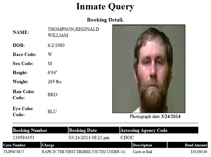 Thompson Reginald OK CO Jail Booking Detail.png