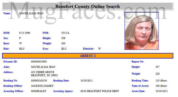 Alma Jean Weeks, Beaufort, South Carolina (arrested Oct 2011) [growing ...