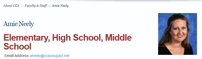 Neely Amie CCA school web page.png